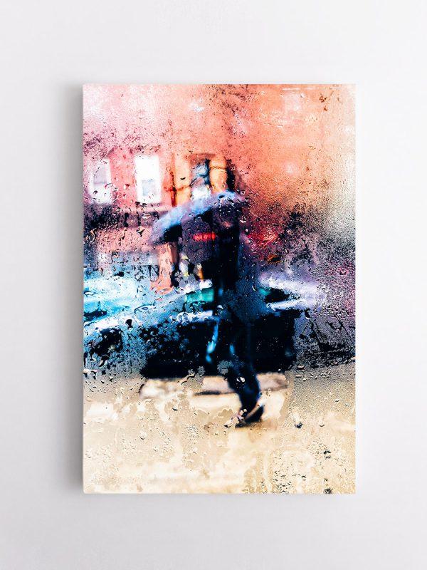 drobė miesto lietus