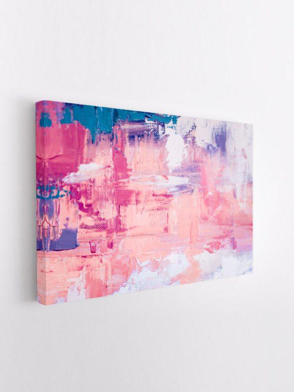 drobė abstraktas rožinis