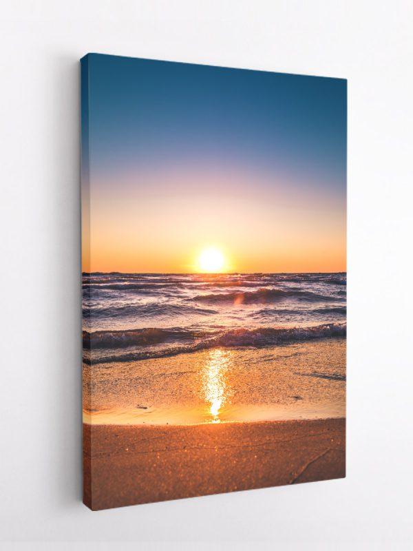 drobė saulėlydis paplūdimyje