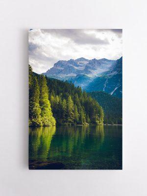 drobė kalnų ežeras