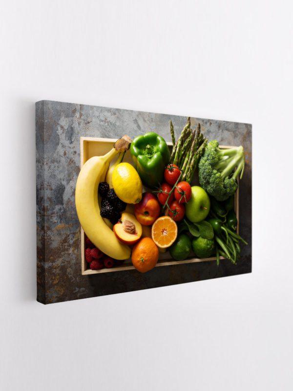 drobė vaisiai ir daržovės