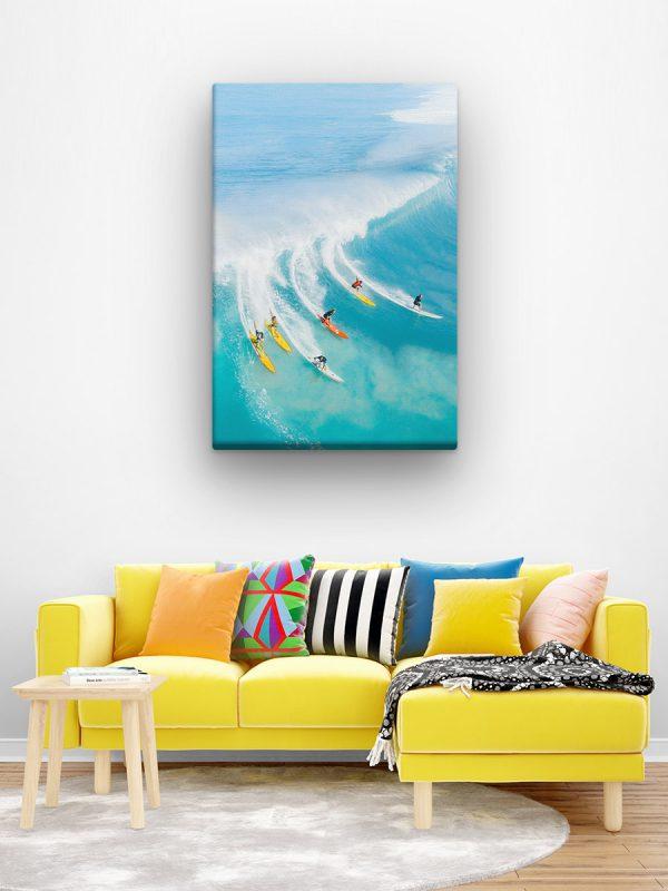 drobė drauge ant bangos