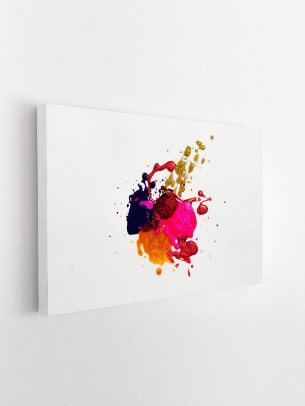 drobė abstraktas dažai