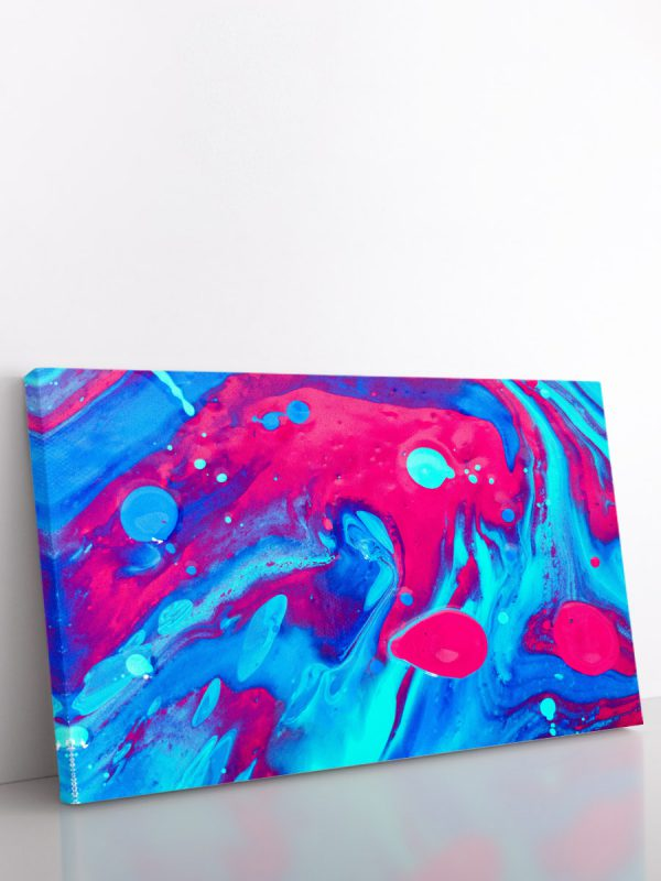 drobė abstraktas rožinis melsvas