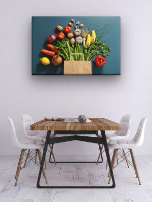 drobė šviežios daržovės