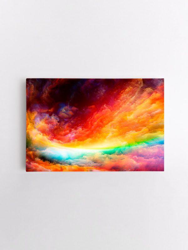 drobė abstraktas vaivorykštės spalvos