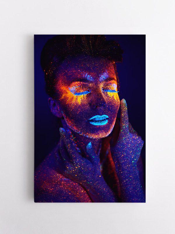 drobė melsvi neonai