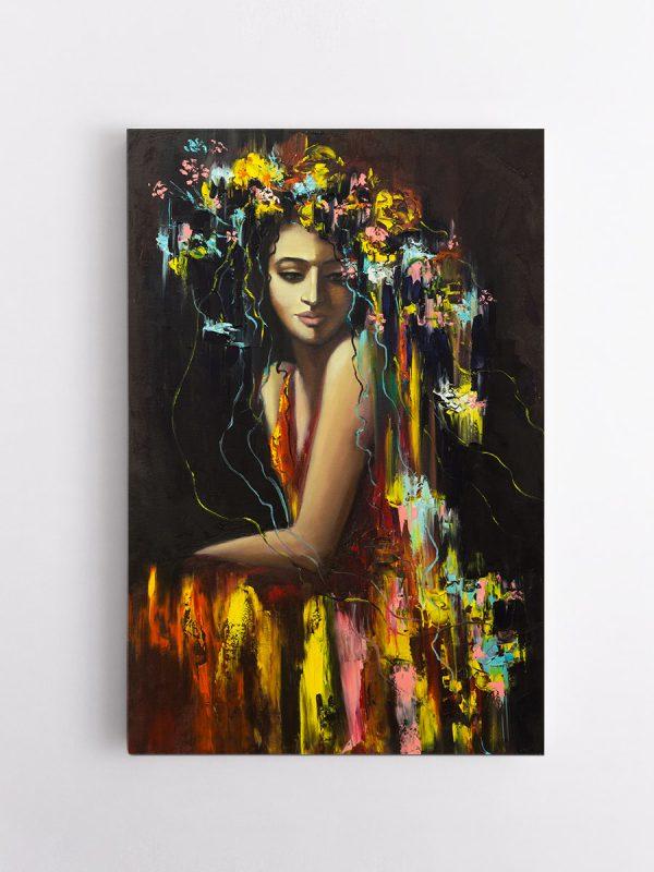 drobė geltonoji moteris