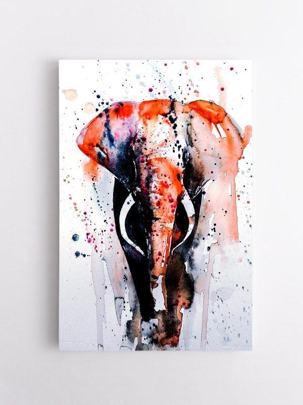 drobė tapytas dramblys