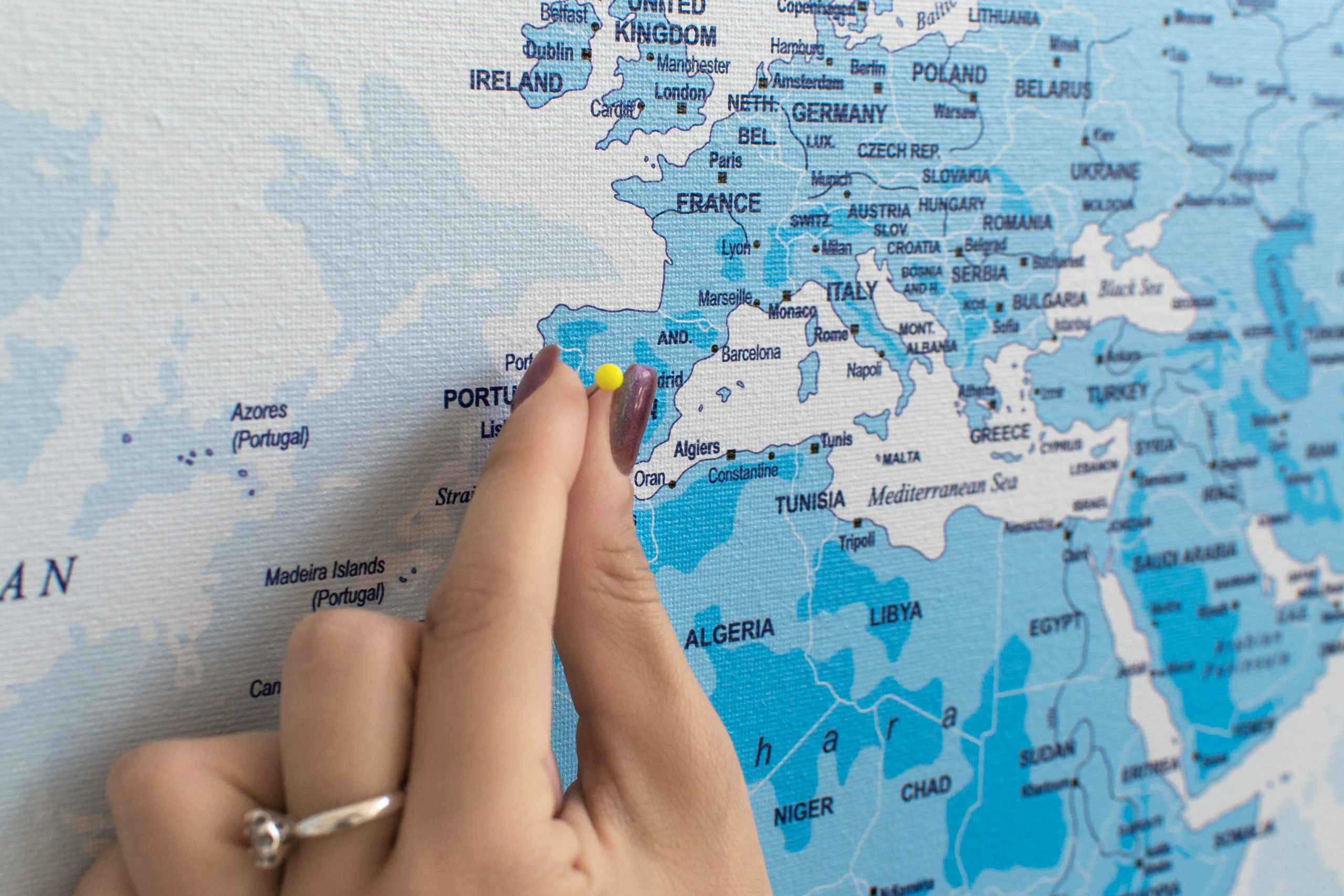 Žydras, detalus pasaulio žemėlapis iš arti
