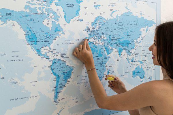 Žydras, detalus pasaulio žemėlapis iš toli